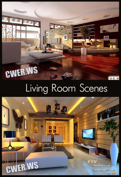 Living room Interiors for 3ds Max